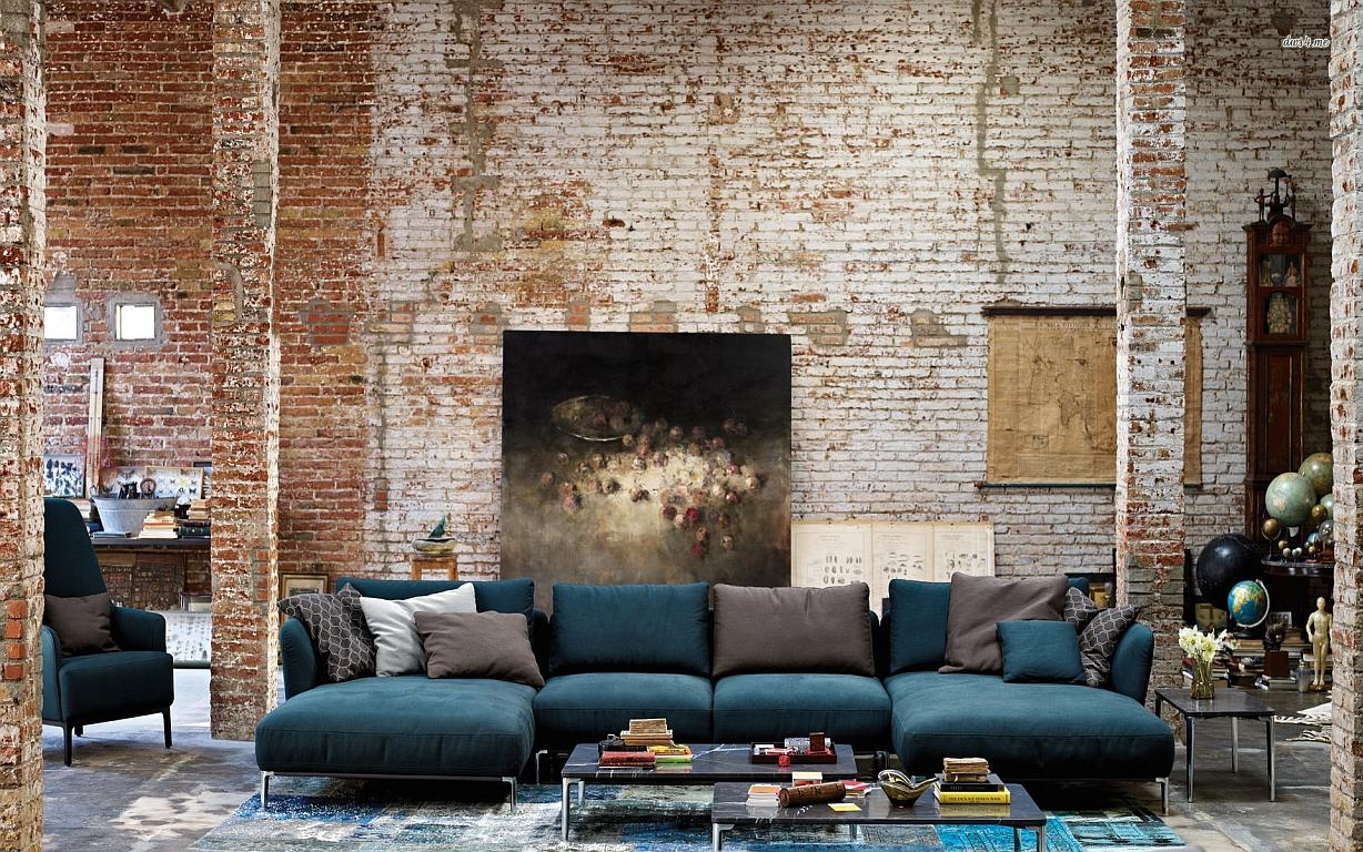 artistic-brick-living-room-wallpaper-design
